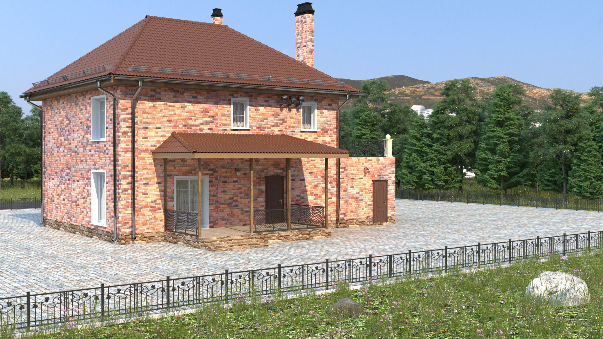 Готовый проект коттеджа 148 кв. м / Артикул KH-89 фасад