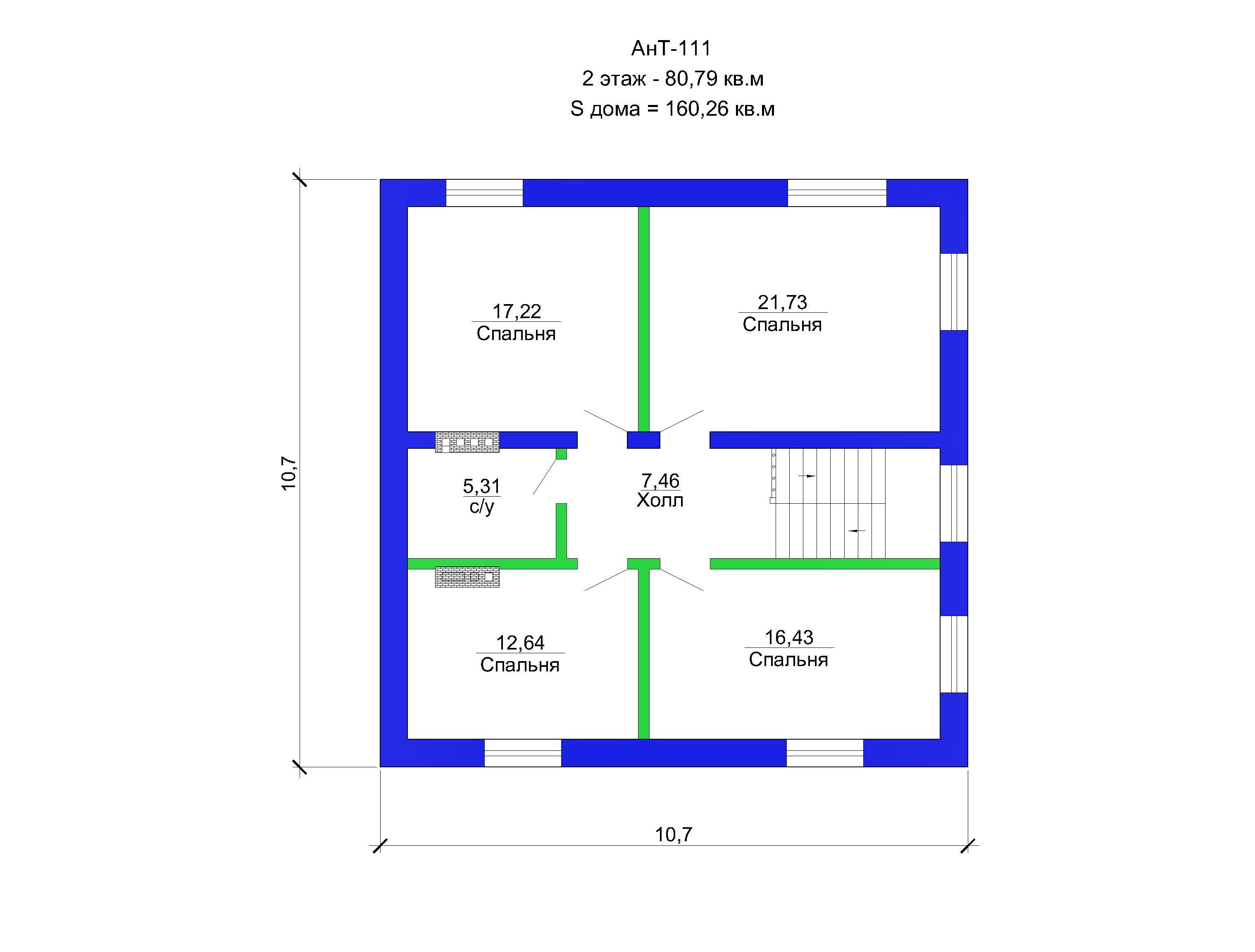 4 Готовый проект дома 160 кв.м / Артикул AHT-111 план
