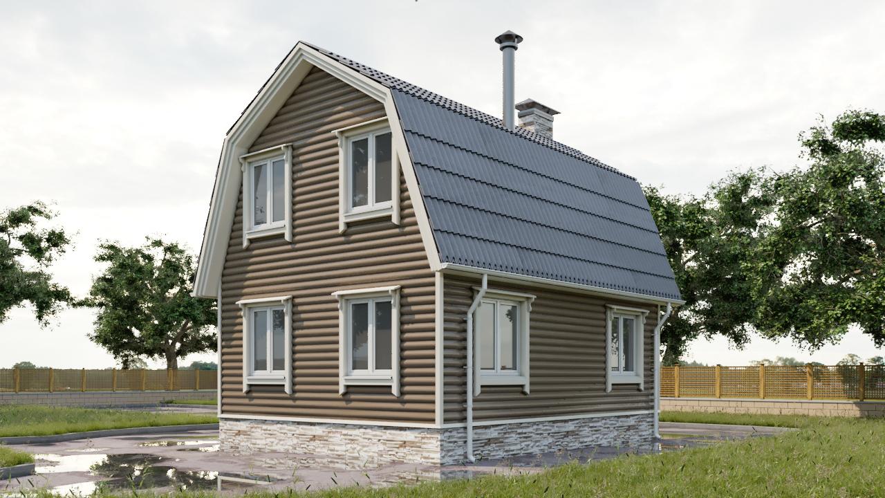6 Проект небольшого дома 79 кв.м / Артикул СПС-106 фасад