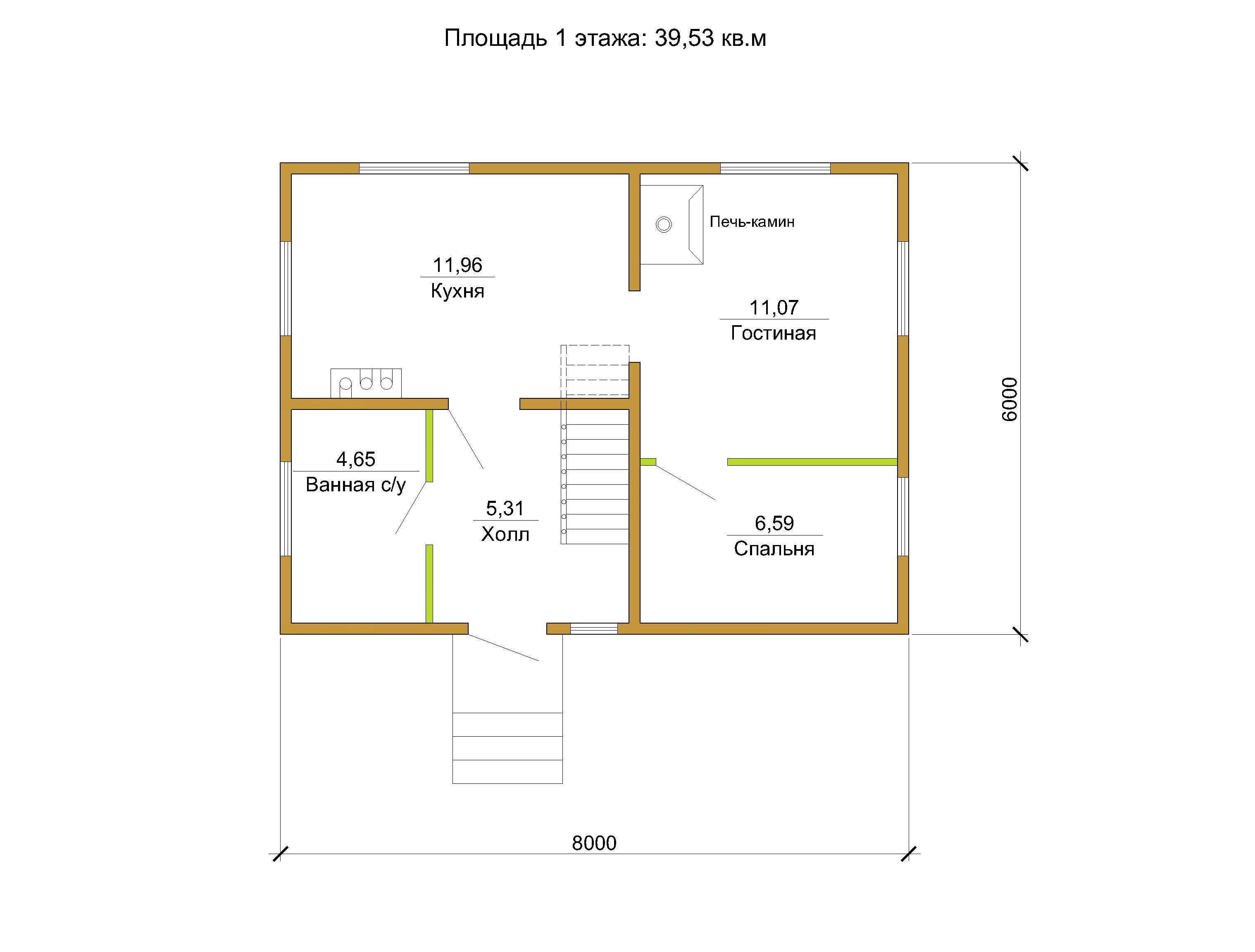 6 Проект небольшого дома 79 кв.м / Артикул СПС-106 план