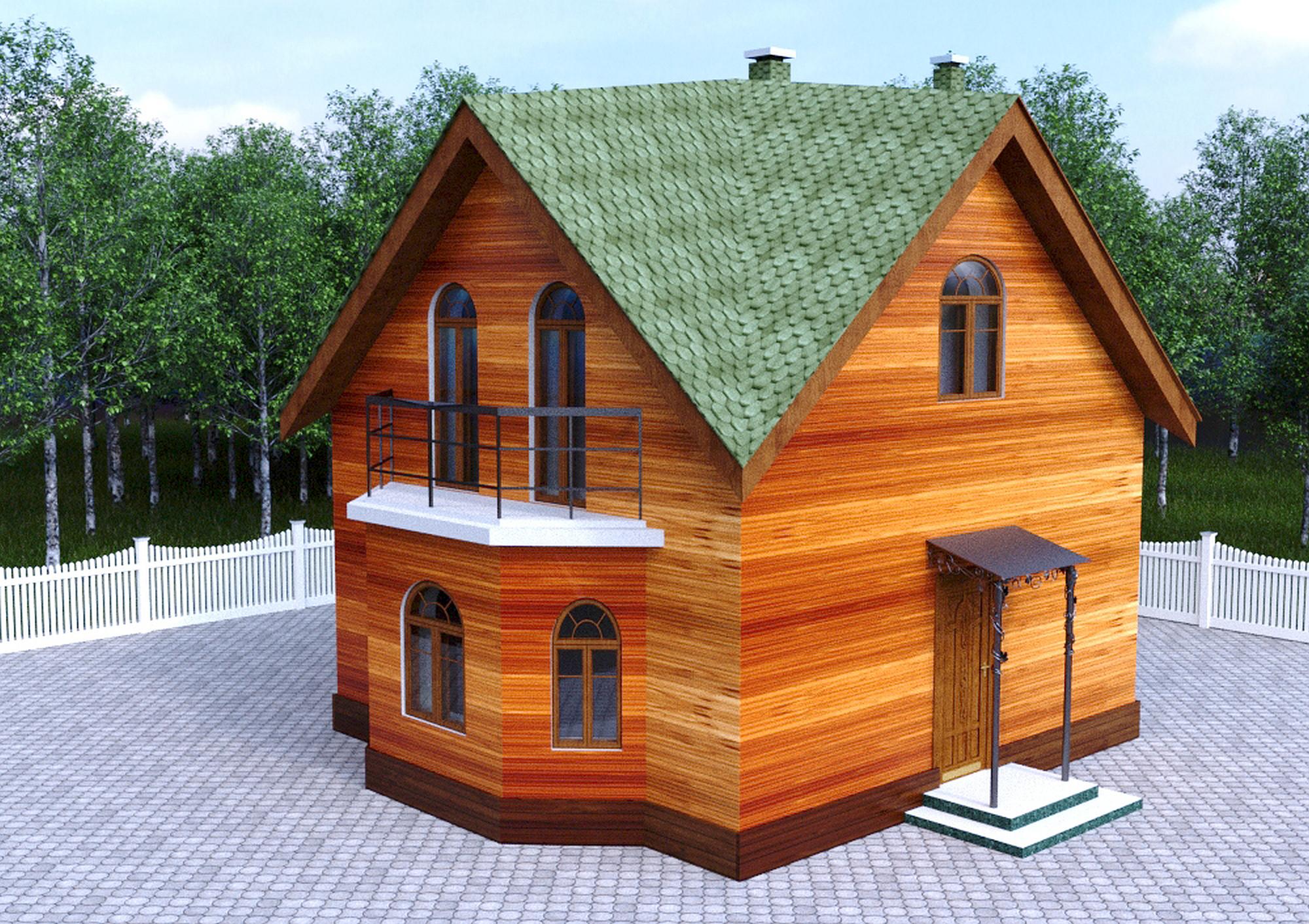 Проект гостевого дома с баней 64 кв.м / Арт. Cу-71 фасад