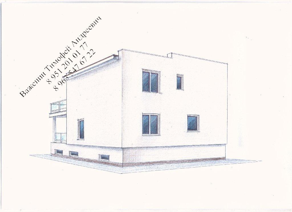 Рабочий проект 2-х этажного жилого дома фасад