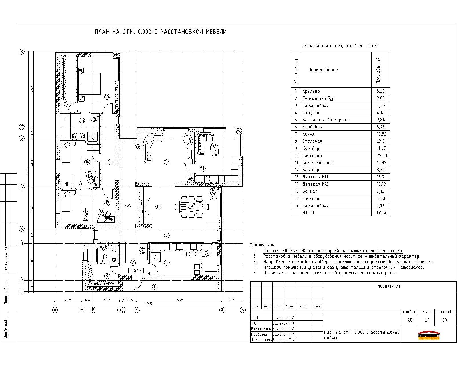 Проект 1-го дома в стиле хай-тек план