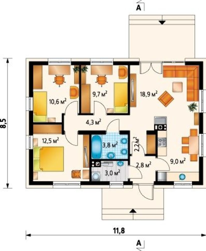 Проект АМ-3518 план