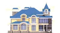 Проект кирпичного дома 38-71 фасад