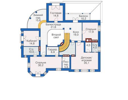 Проект кирпичного дома 38-71 план