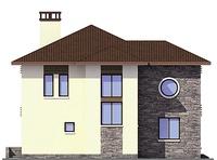 Проект кирпичного дома 38-72 фасад