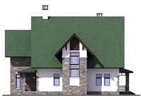 Проект кирпичного дома 38-73 фасад