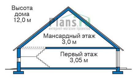 Проект кирпичного дома 38-73 план