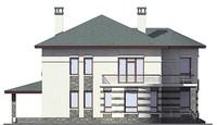 Проект кирпичного дома 38-78 фасад