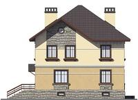 Проект кирпичного дома 38-80 фасад
