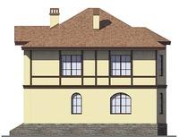 Проект кирпичного дома 38-81 фасад