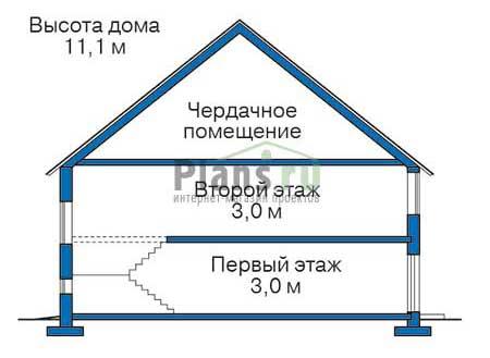 Проект кирпичного дома 38-81 план