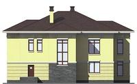 Проект кирпичного дома 38-86 фасад
