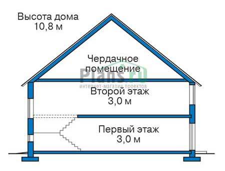 Проект кирпичного дома 38-86 план