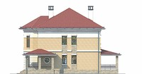 Проект кирпичного дома 38-91 фасад