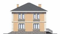 Проект кирпичного дома 39-04 фасад