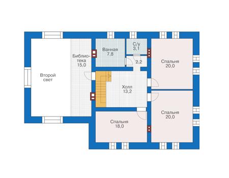 Проект кирпичного дома 39-04 план