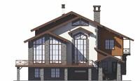 Проект кирпичного дома 39-05 фасад