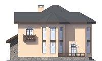 Проект кирпичного дома 39-06 фасад