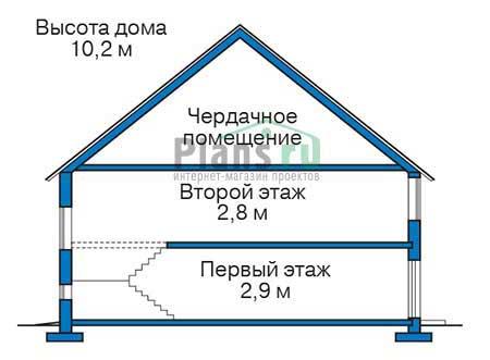 Проект кирпичного дома 39-06 план