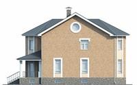Проект кирпичного дома 39-09 фасад
