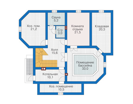 Проект кирпичного дома 39-09 план