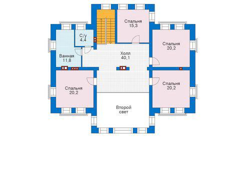 Проект кирпичного дома 39-14 план