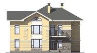 Проект кирпичного дома 39-16 фасад