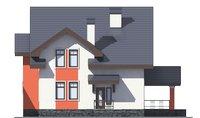 Проект кирпичного дома 39-27 фасад