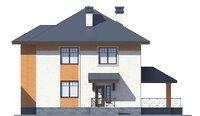 Проект кирпичного дома 39-29 фасад