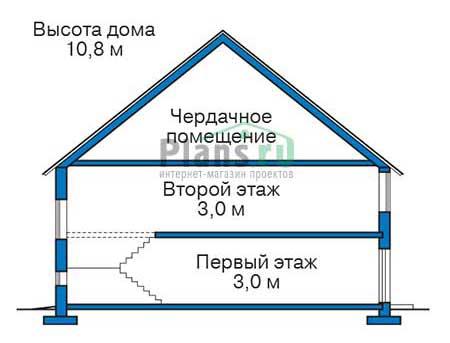 Проект кирпичного дома 39-29 план