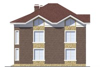 Проект кирпичного дома 39-39 фасад