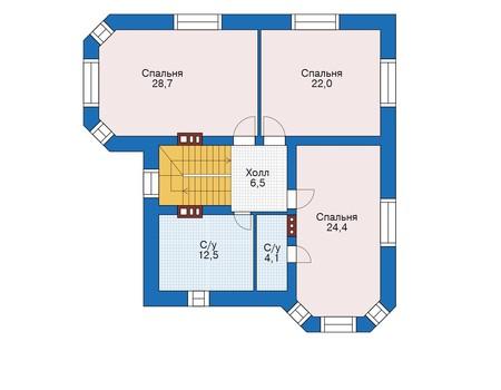 Проект кирпичного дома 39-39 план