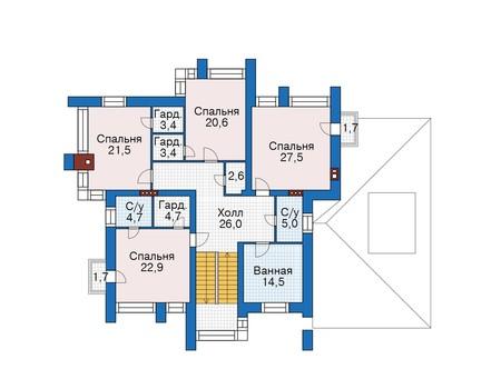 Проект кирпичного дома 39-44 план