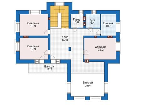 Проект кирпичного дома 39-47 план