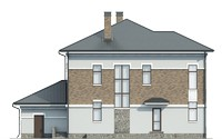 Проект кирпичного дома 39-51 фасад