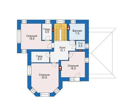 Проект кирпичного дома 39-51 план