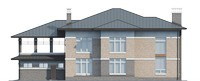 Проект кирпичного дома 39-61 фасад