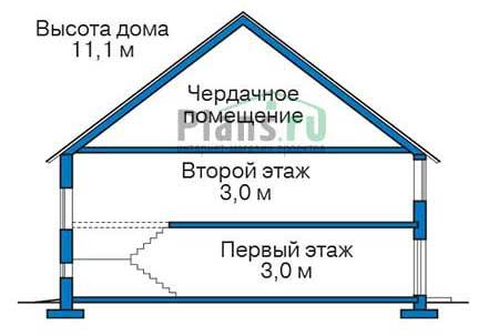 Проект кирпичного дома 39-61 план