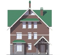 Проект кирпичного дома 39-66 фасад