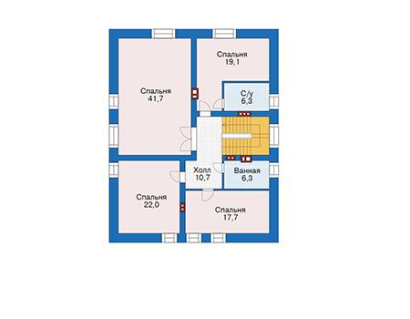 Проект кирпичного дома 39-66 план