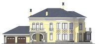 Проект кирпичного дома 39-68 фасад