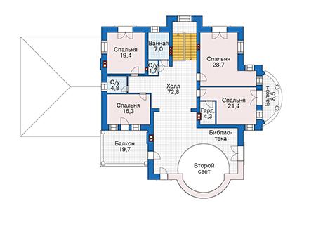 Проект кирпичного дома 39-68 план