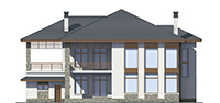 Проект кирпичного дома 39-76 фасад