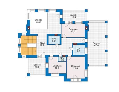 Проект кирпичного дома 39-76 план
