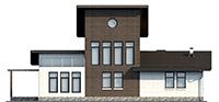 Проект кирпичного дома 39-79 фасад