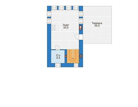 Проект кирпичного дома 39-79 план