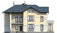 Проект кирпичного дома 39-80 фасад