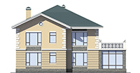Проект кирпичного дома 39-81 фасад